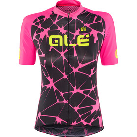 Alé Cycling Solid Cracle Shortsleeve Jersey Dame black-fluo pink